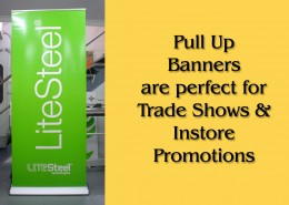 Pull Up Banners are perfect for instore promotions and Trade Show Stands.